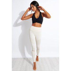 NEW Alo Yoga High Waisted Moto Legging – Bone